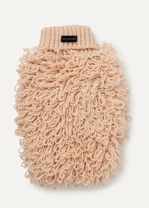 Curly Knit Sweater Peach - Sir Dogwood