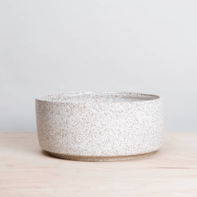 Speckled White Pet Bowl - Sir Dogwood