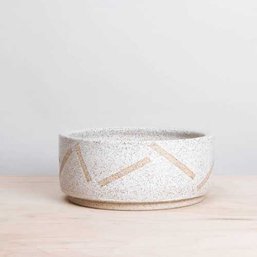 Speckled White Shapes Pet Bowl - Sir Dogwood