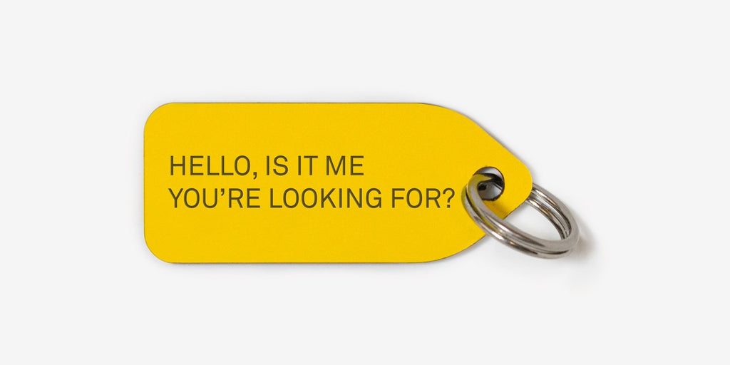 Hello, Is It Me You're Looking For Collar Charm