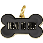 Treat Yo Self Collar Charm Black
