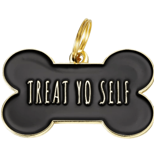 Treat Yo Self Collar Charm Black - Sir Dogwood