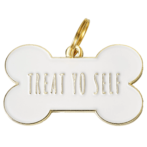 Treat Yo Self Collar Charm White - Sir Dogwood