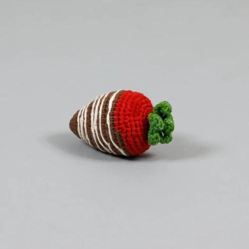 Crochet Chocolate Covered Strawberry Toy