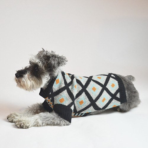 Contrast Pattern Jacquard Sweater - Sir Dogwood