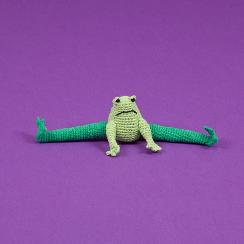 Hand Crochet Frog Toy - Sir Dogwood