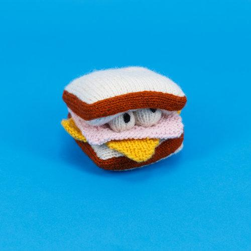 Hand Knit Ham and Cheese Toy
