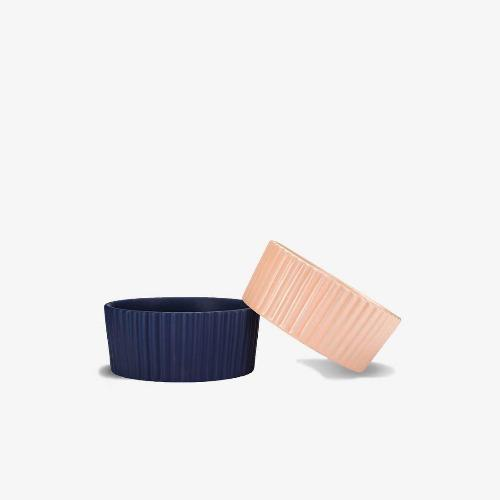 Ripple Pet Bowl Navy - Sir Dogwood