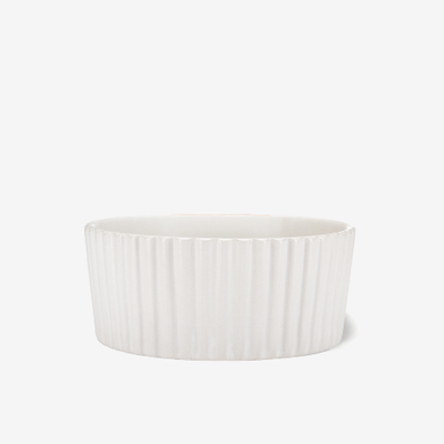 Ripple Pet Bowl White - Sir Dogwood
