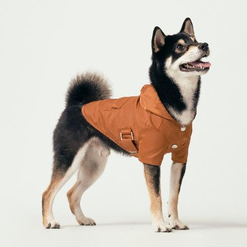 Hooded Raincoat Rust - Sir Dogwood