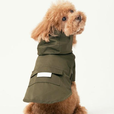 Hooded Raincoat Green - Sir Dogwood