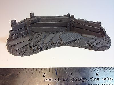 28mm 40k Small Barricade Resin Defense Line Trench Terrain Scenery Wargaming