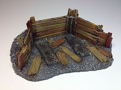 28mm Medium Barricade 40k Resin Defense Line Trench Terrain Scenery Wargaming