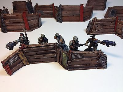 28mm Resin Defense Line Barricade Terrain Aegis Alternative Scenery Wargaming