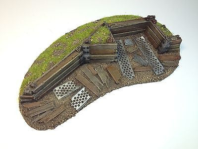 28mm 40k Large Barricade Resin Defense Line Trench Terrain Scenery Wargaming