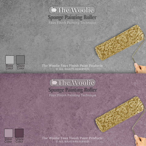 Official Easy Sponge Painting Roller for Faux Painting by The Woolie