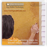How to faux finish rag paint using The Woolie Rag Roller using faux glaze on a wall - painting rag rolling for faux painting techniques on walls, floors, furniture and ceilings by The Original Woolie Roller Step 3