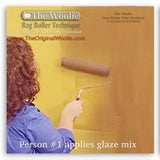 How to faux finish rag paint using The Woolie Rag Roller using faux glaze on a wall - painting rag rolling for faux painting techniques on walls, floors, furniture and ceilings by The Original Woolie Roller Step 1
