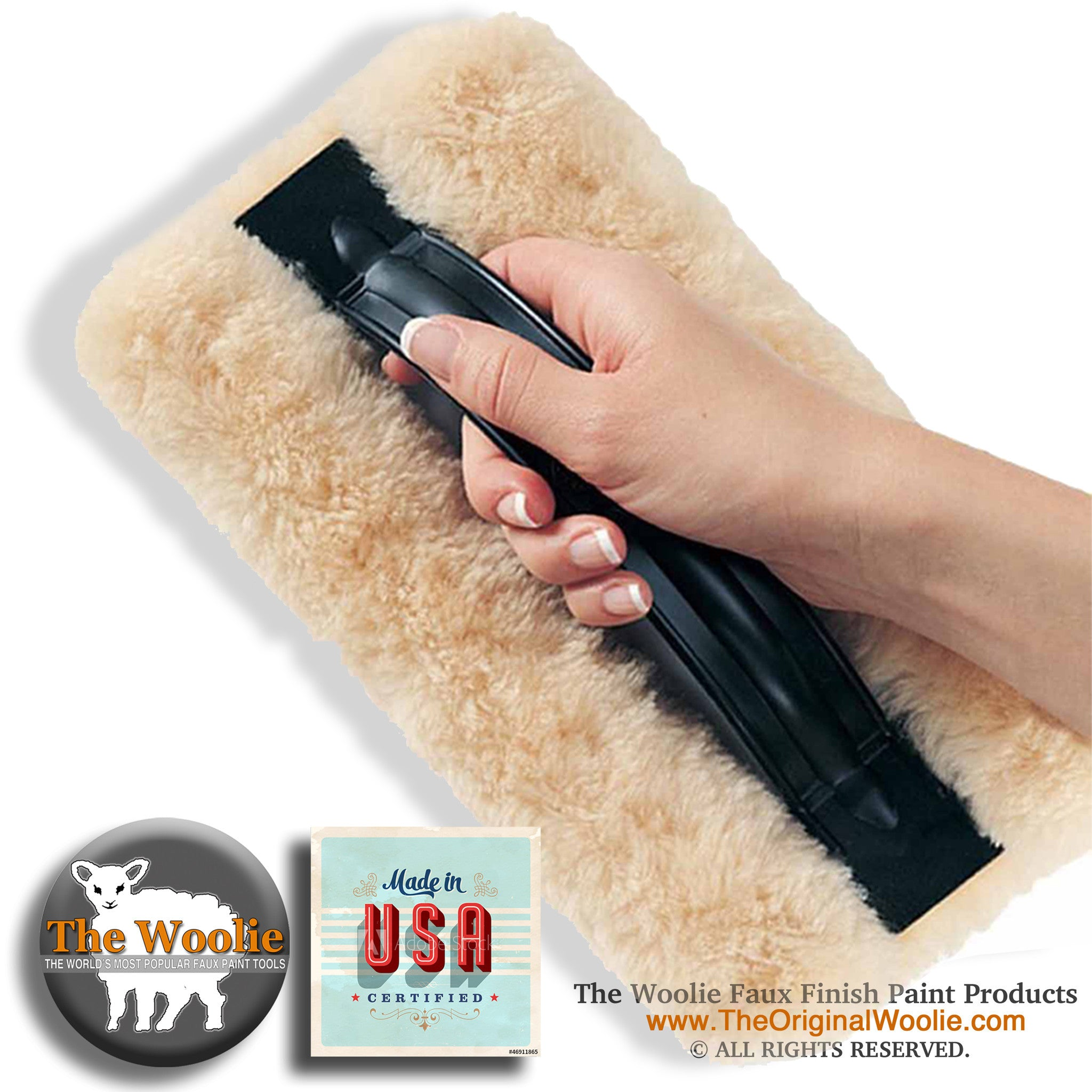 The Woolie faux finish sheepskin paint pad Easiest faux glazing and fastest paint techniques for walls rooms floors house 5d974d72 5b3f 49d3 bfdf