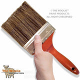 "5"" inch house painting brush for interior or exterior use.  Poly-Bristle paint brush is ergonomic and makes wall painting techniques go faster and easier.  Use for faux finish paint techniques like Colorwash, Dragging, Color-Meshing, and many faux finishes.  You can buy The Woolie paint brush here.  Lowest Price Available."
