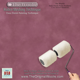 The Woolie Original Dual 2-Color Split Roller Faux Painting BEGINNER STARTER KIT - Sheepskin/Lambswool Dual Roller