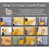 how to paint with sponge, what is faux finish paint, cool painting techniques for walls