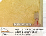 The Woolie LITTLE-SIZE - VALUE 3-PACK Natural Sheepskin/Lambswool Faux Paint and Glaze Techniques Edging Paint Pad 3.5 x 2.75 inches - 3/4 inch Nap