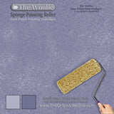 sponge paint roller, wall finishing tools, sponge painting walls with a roller, wall glaze colors,