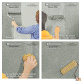 sponge roller paint, easy paint techniques, rag roller, how to sponge paint a wall, tools for painting,