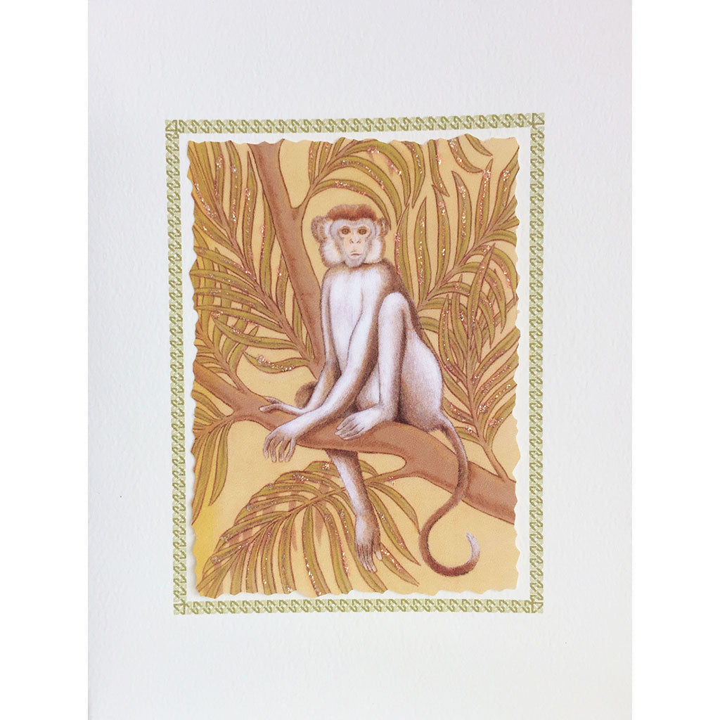Greeting Card Monkey with Palms - Lumia Designs