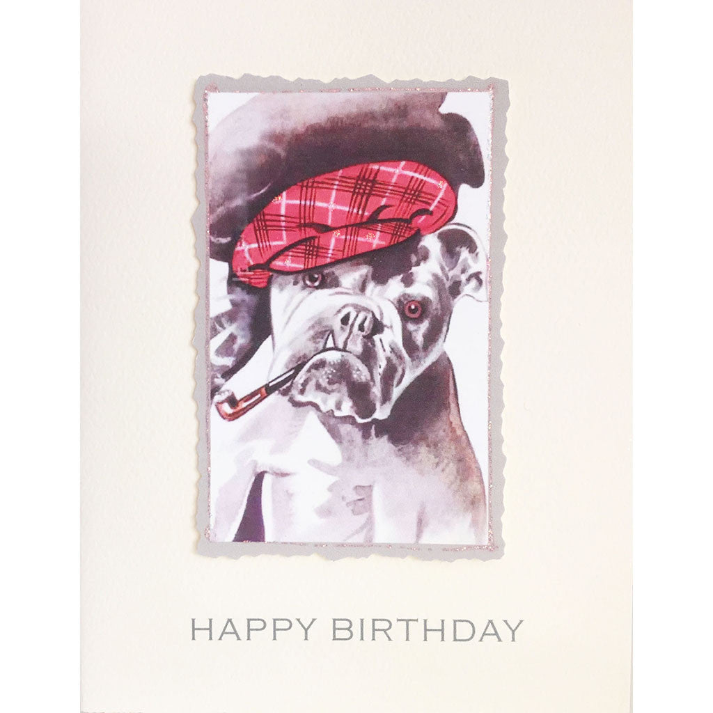 Greeting Card Butch Bulldog Birthday - Lumia Designs