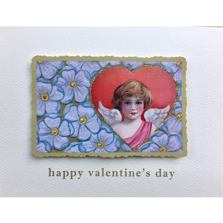 Angel with Flowers Valentine's Card