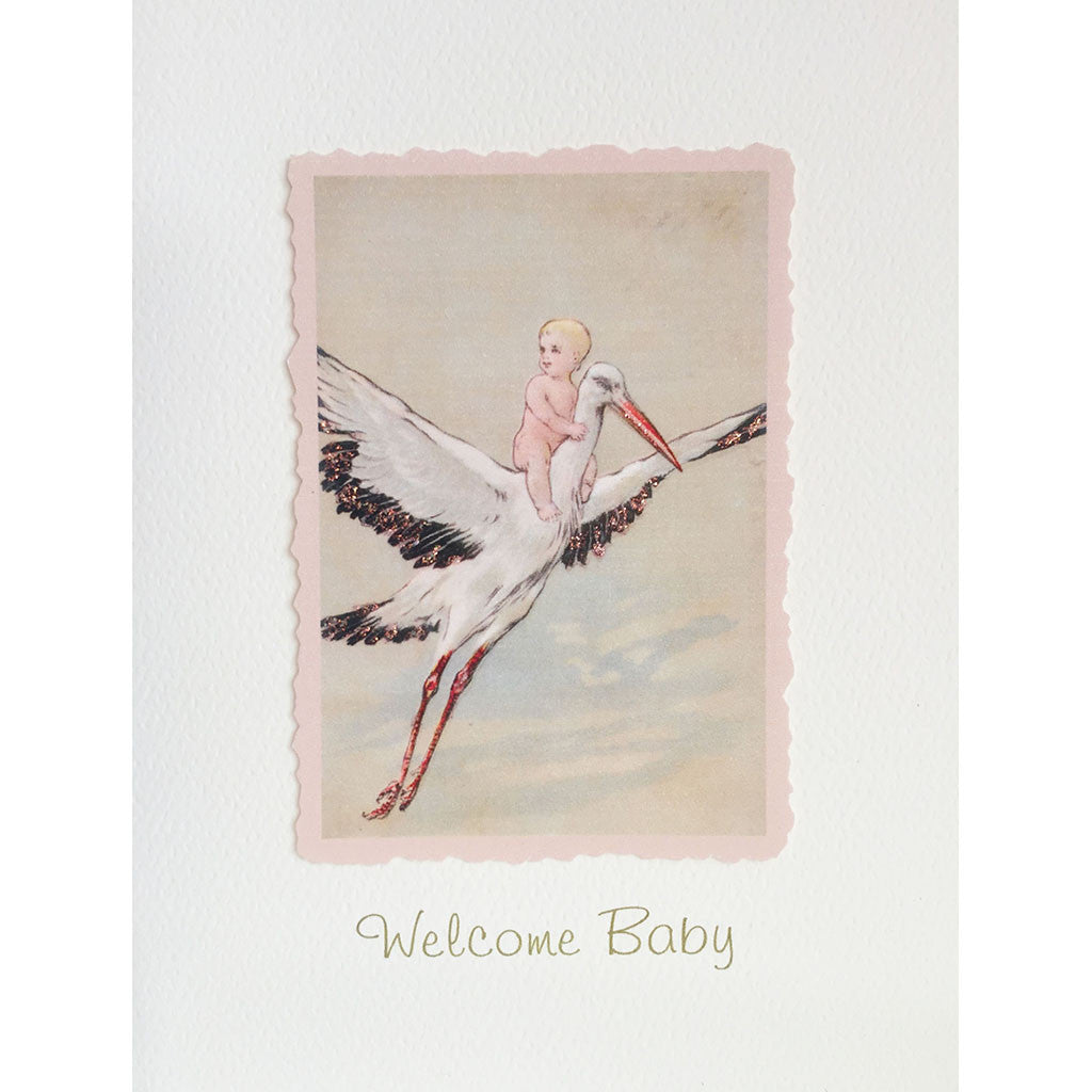 Greeting Card Stork BA-04 - Lumia Designs