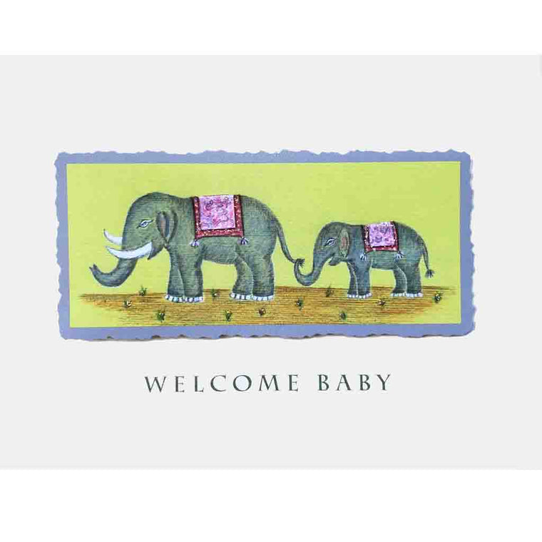 Elephants Welcome Baby Card