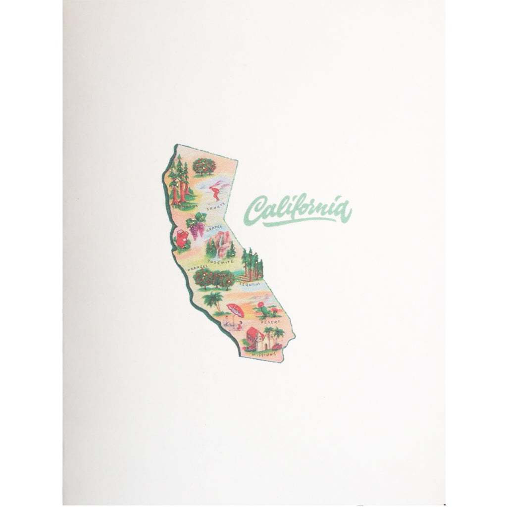 California Map Everyday card