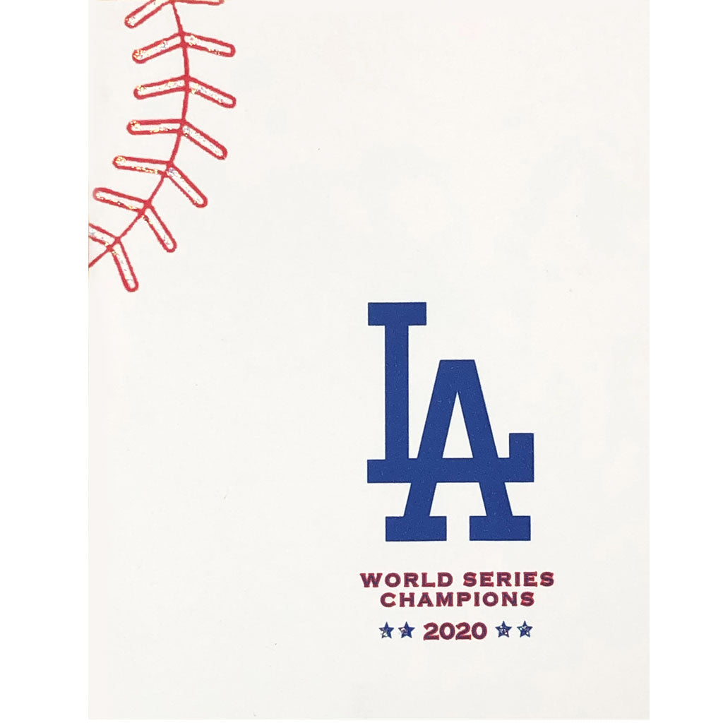 LA Dodgers 2020 Champs Baseball Card