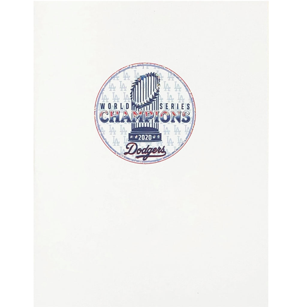 Dodgers 2020 Champion Trophy Card