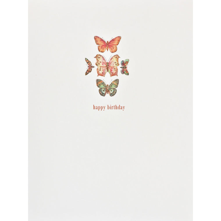 Greeting Card Butterflies Birthday - Lumia Designs
