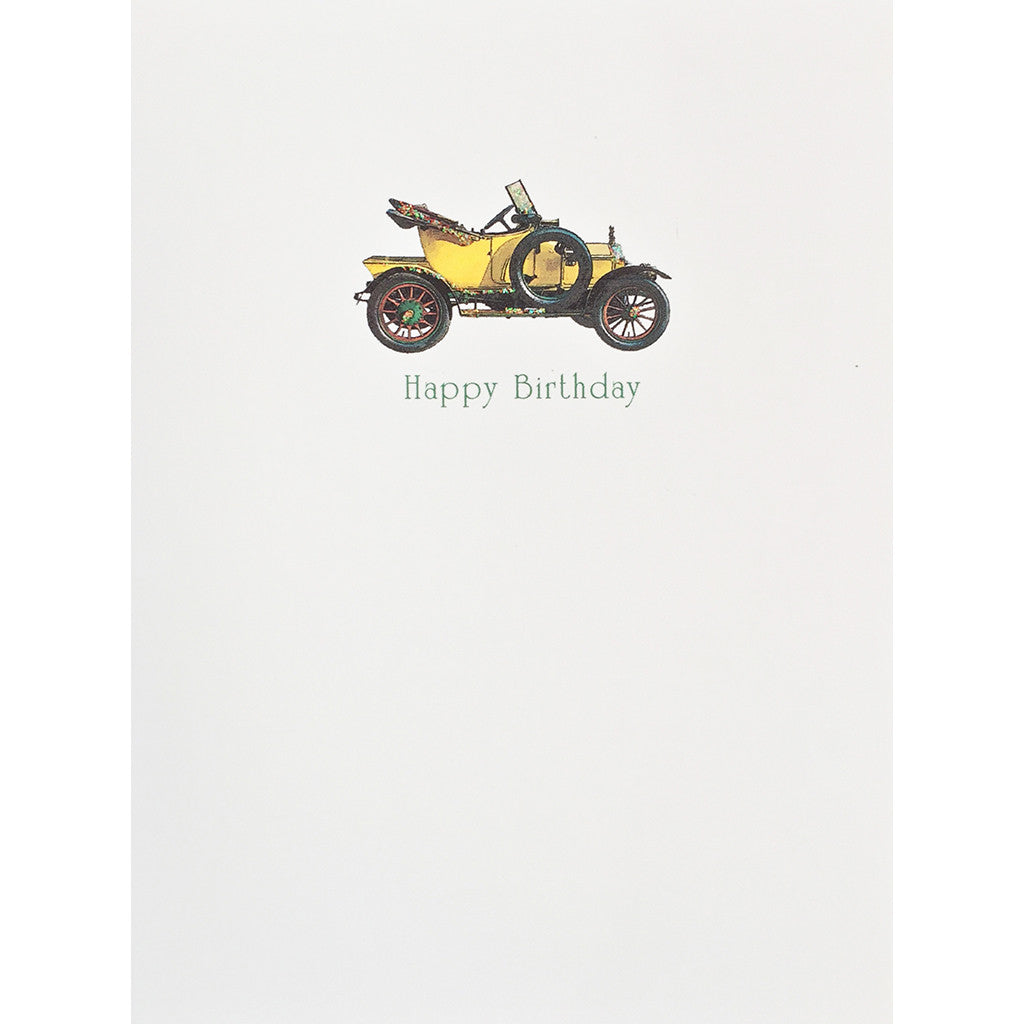 Greeting Card Vintage Car Birthday - Lumia Designs