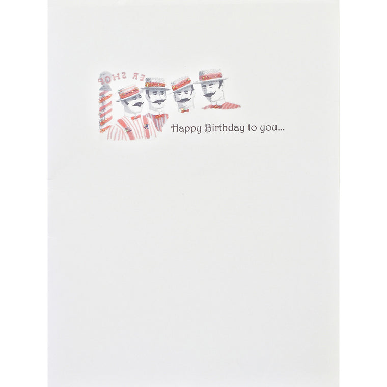 Greeting Card Barber Shop Quartet - Lumia Designs