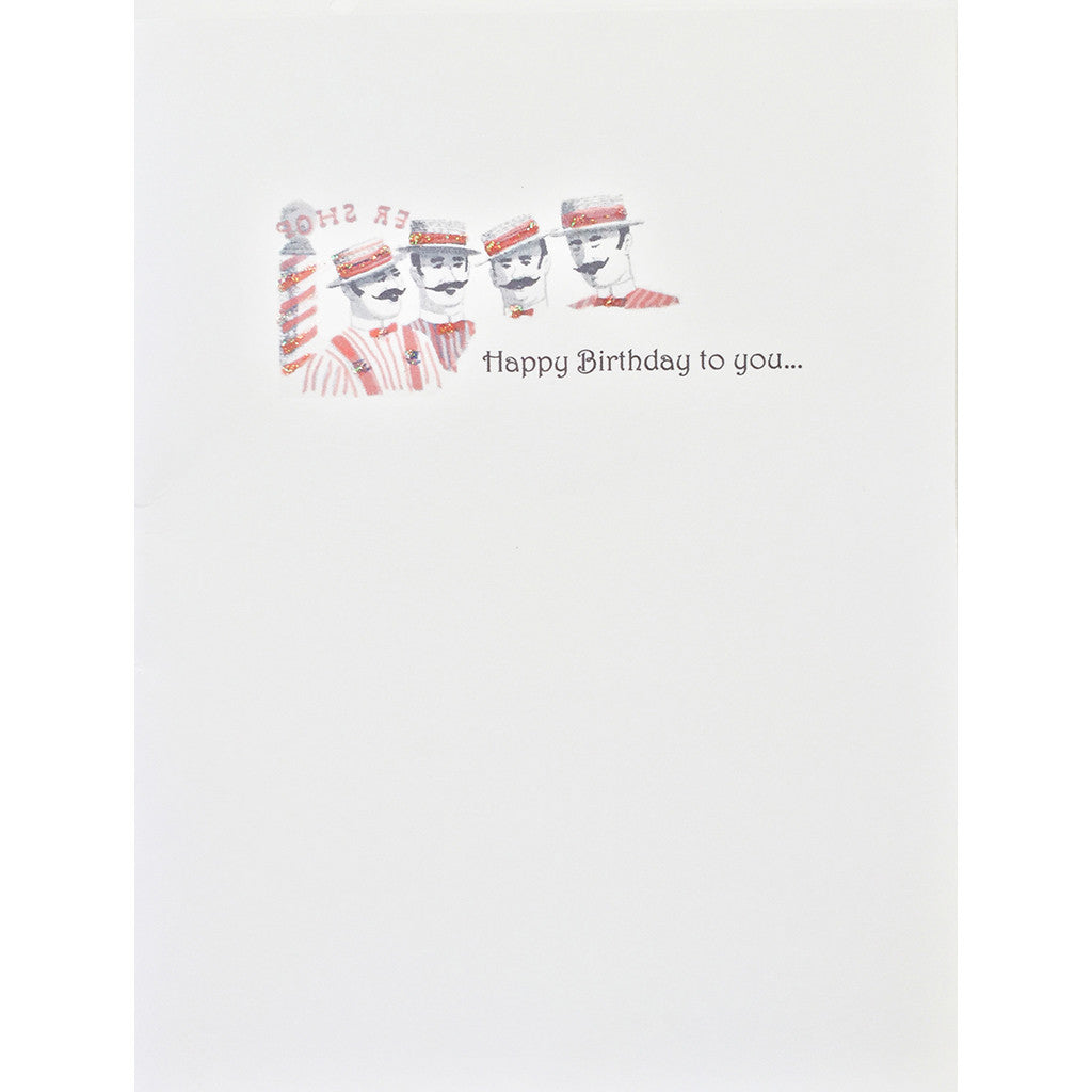Birthday Card Barber Shop Quartet - Lumia Designs
