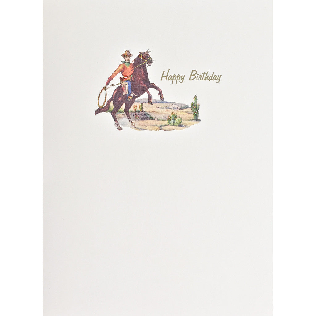 Greeting Card Cowboy Birthday - Lumia Designs