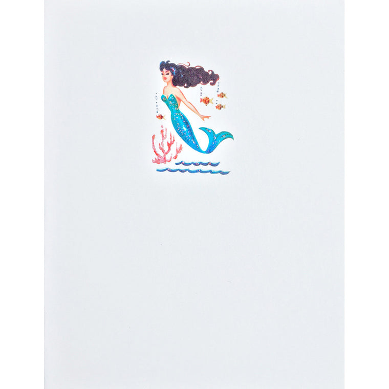 Greeting Card Blue Mermaid Lumia Designs