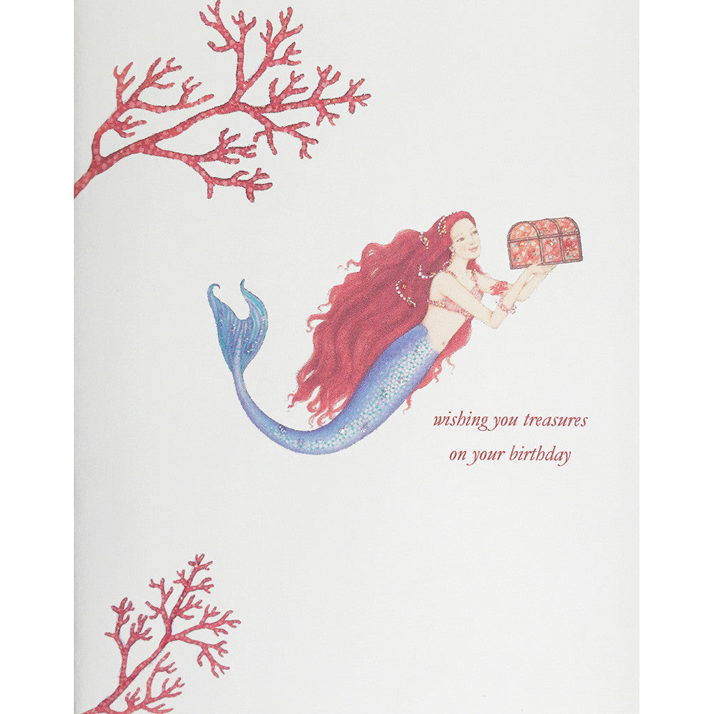 Greeting Card Mermaid Treasure Birthday - Lumia Designs