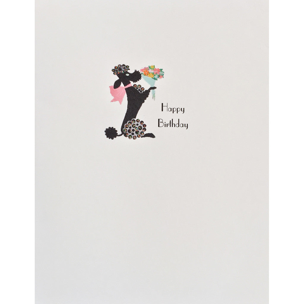 Greeting Card Poodle Birthday - Lumia Designs