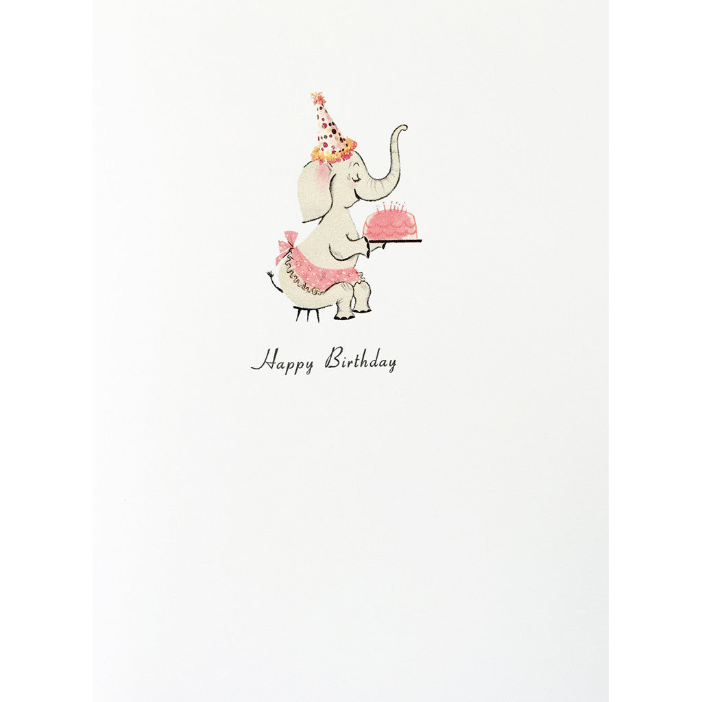 Greeting Card Elephant Cake Birthday - Lumia Designs