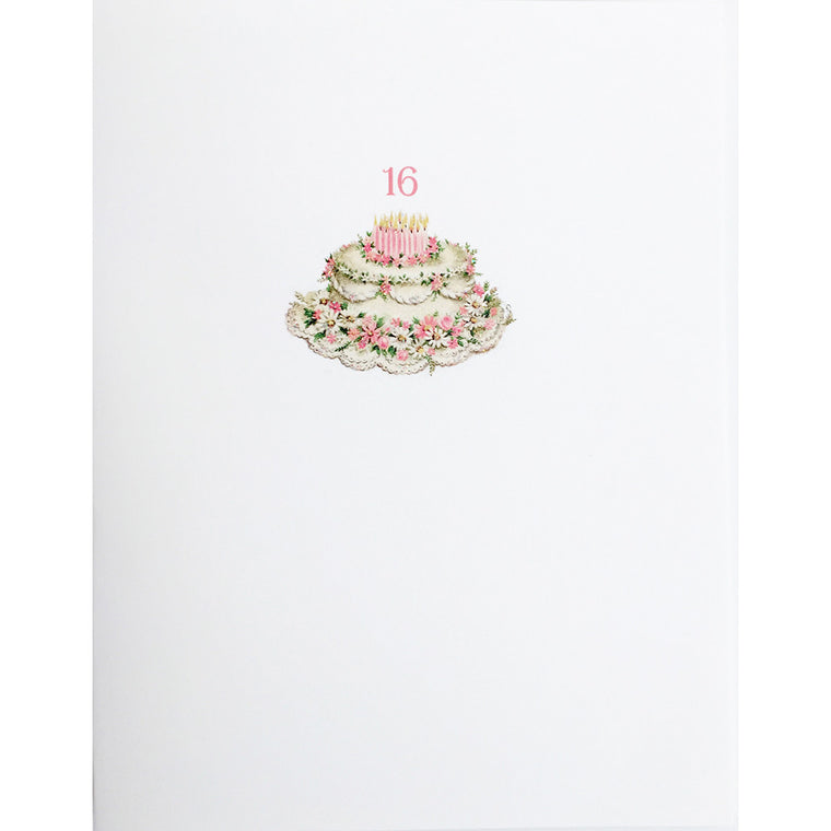 Greeting Card Sweet 16 Birthday - Lumia Designs
