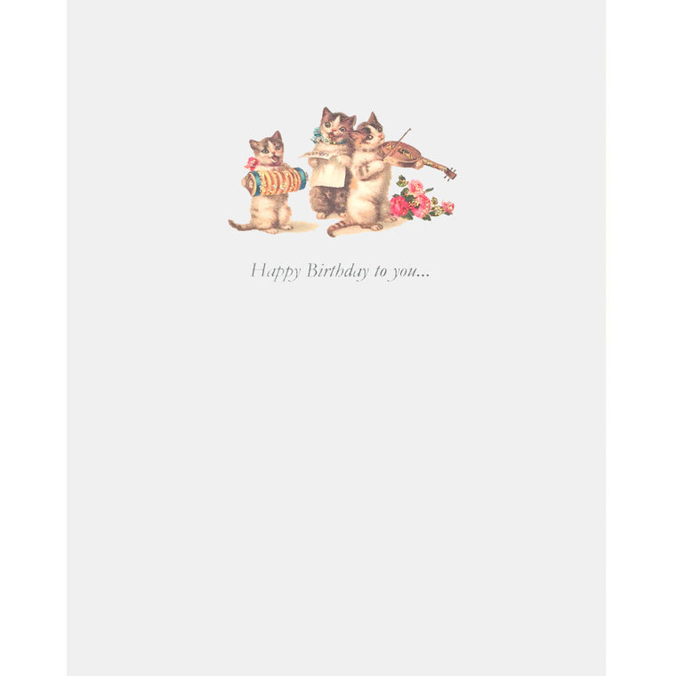 Cat Trio Birthday Card - Lumia Designs