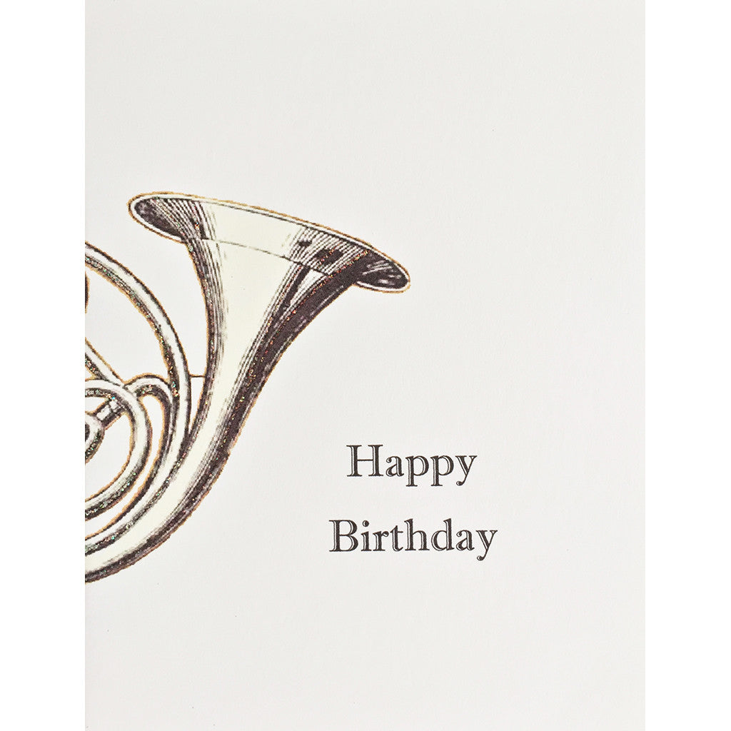 Greeting Card French Horn Birthday - Lumia Designs