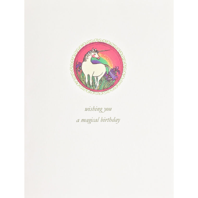 Greeting Card Unicorn Birthday - Lumia Designs